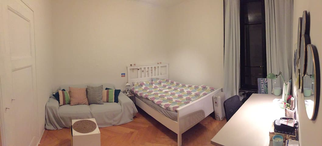Cozy and quiet room next to Geneva train station!
