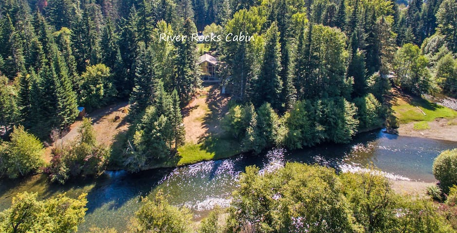 River Rocks Cabin-Great Value on the Yakima River! Hot Tub * Fly Fish or Float the River!