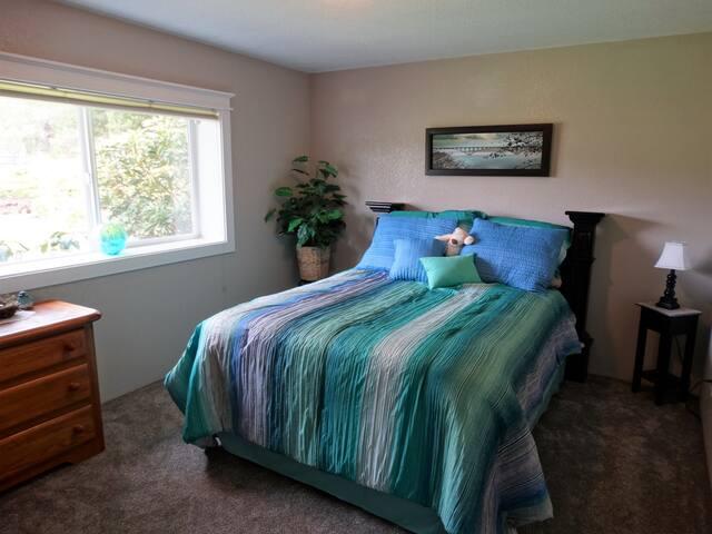 Bedroom 2 has a queen bed.