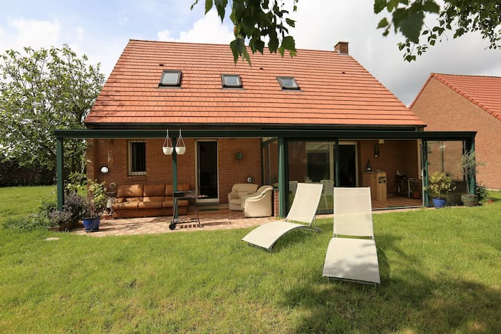 FULL BIG HOUSE + GARDEN 10 min by car from Lille!! - Vendeville - Casa