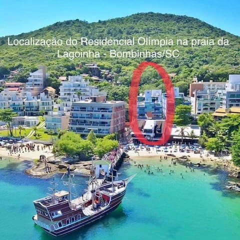 OLÍMPIA - a 30 m do mar de Bombinhas - 11 PESSOAS!
