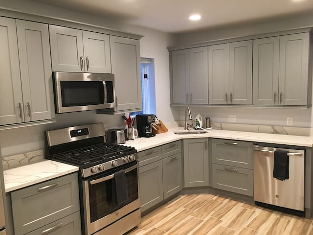 Renovated kitchen with brand new appliances