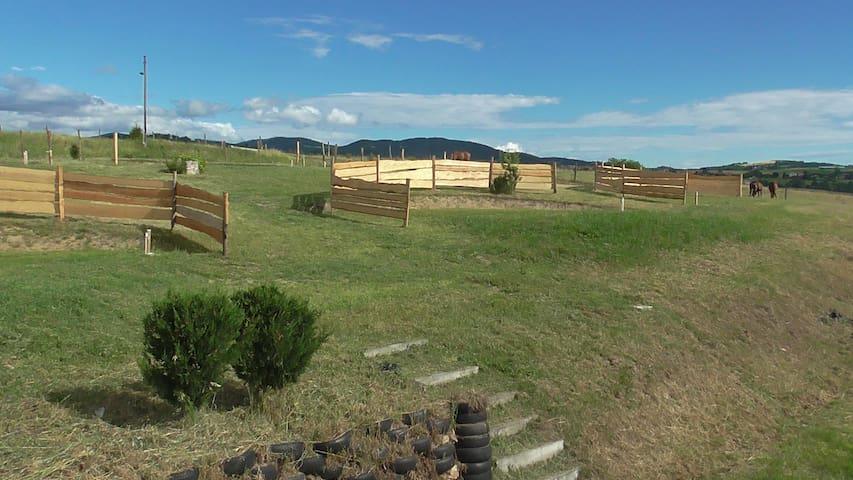 Camping Equestre en Ardèche Verte - Colombier-le-Vieux - Tenda