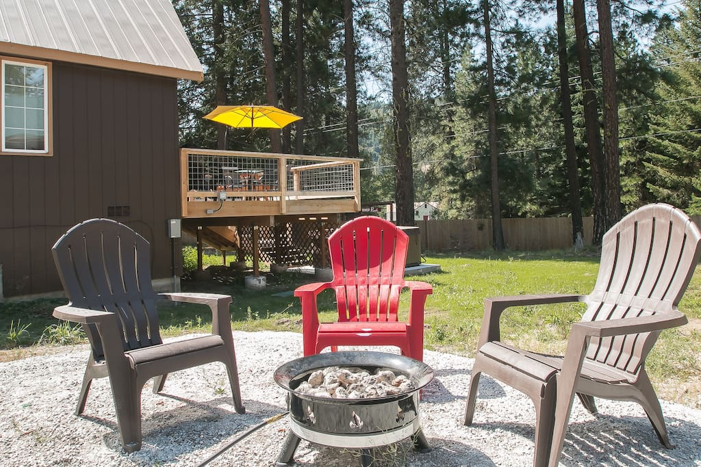 Propane fire pit and outdoor seating