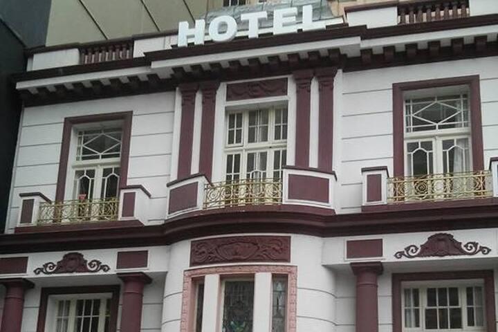 Em um hotel mas como se estivesse em casa