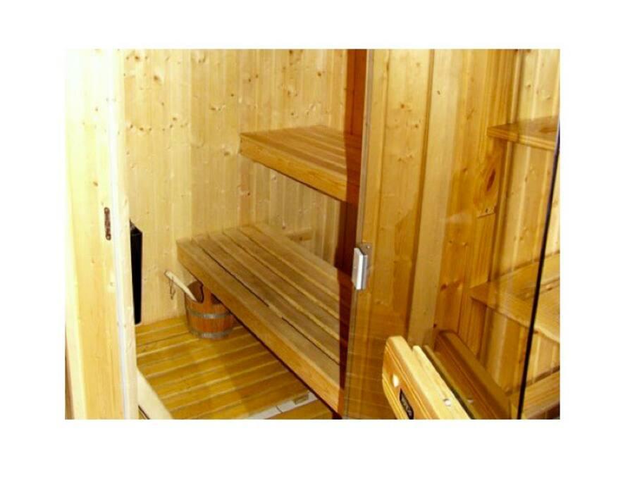 Sauna - rest those weary legs!