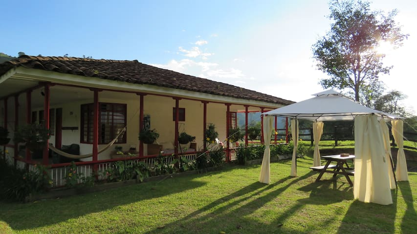 Riverside House in the Cocora Valley