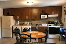 Fully equipped kitchen, including washer, dryer, microwave, coffee machine (complimentary coffee), toaster, and much more!