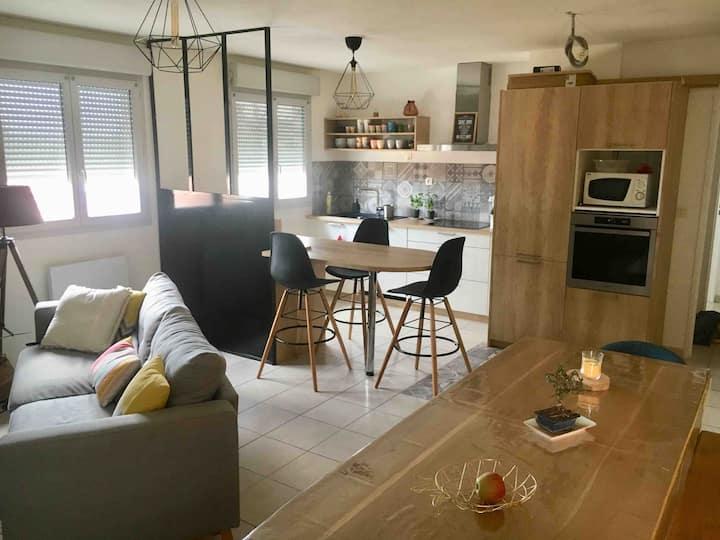 Chambre privée dans un appart cosy à Villefranche