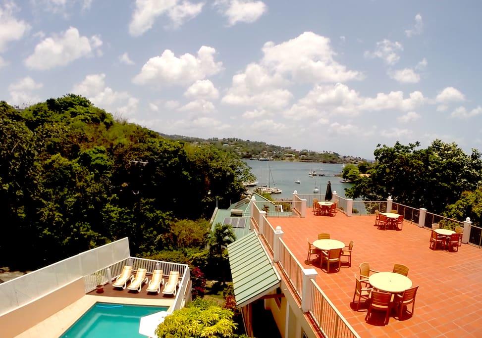 View from Ocean View Villas