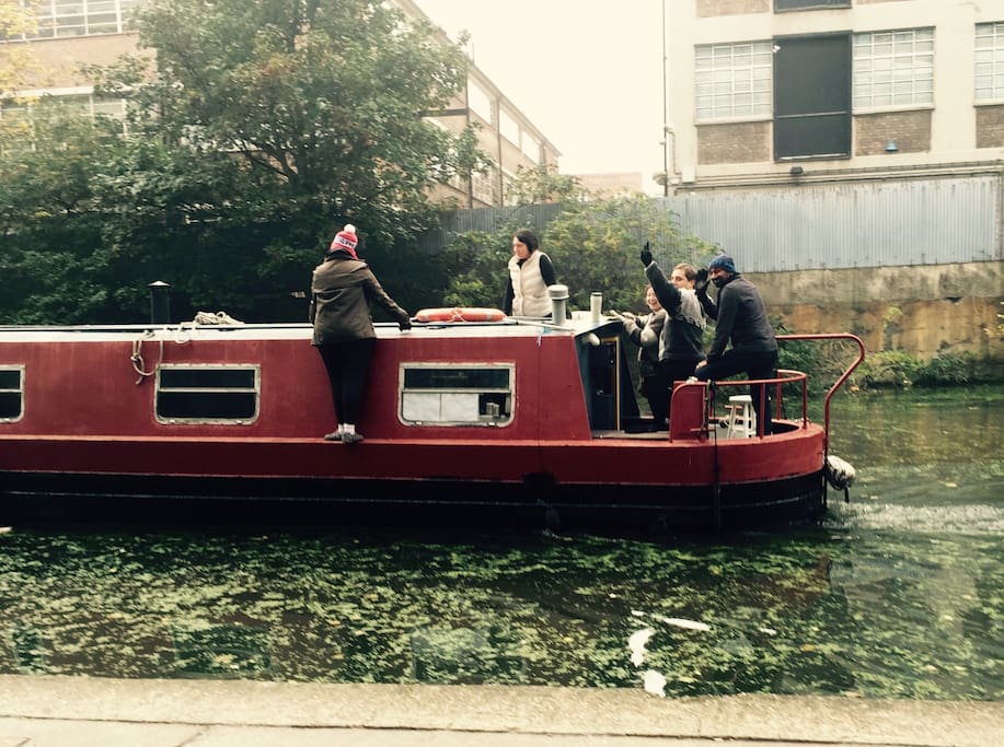 Boat watching at the canal 5 mins away