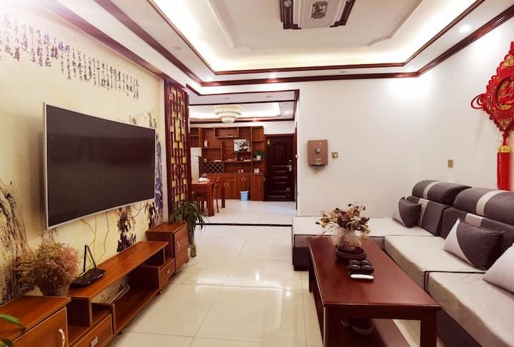 【了听花絮】亳州学院缤纷城新中式大沙发大电视大餐桌超大客厅