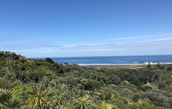Garden Road Piha paradise - peace, quiet - views!