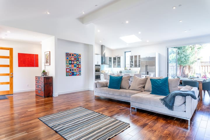Bright Executive Home on Tree-Lined Street