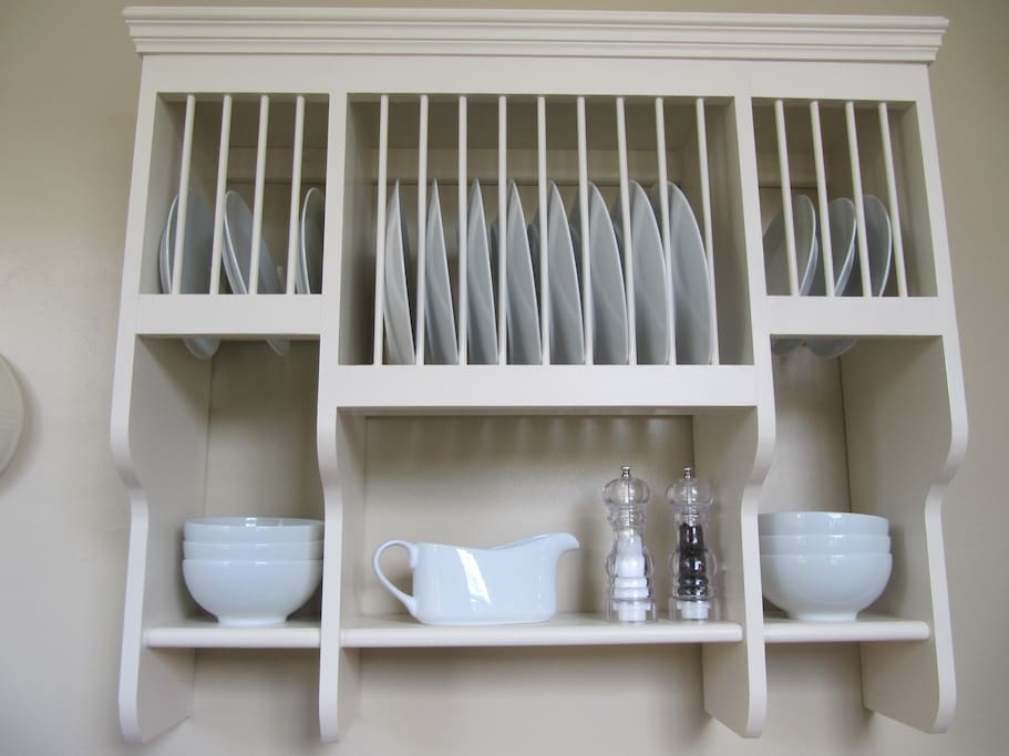 We provide lots of crockery including a number of cupboards with larger pasta bowls, salad bowls and platters etc