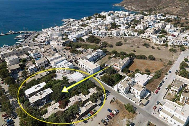 Milos Garden:Double Bedroom Apartment