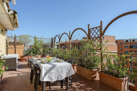 The terrace on the roofs of Rome - Roma