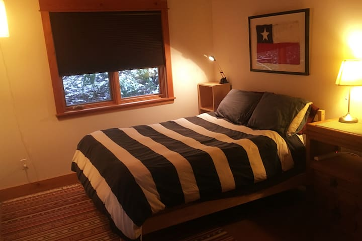 Cozy island guest room.