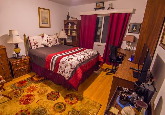 Clean Quiet Comfy Room