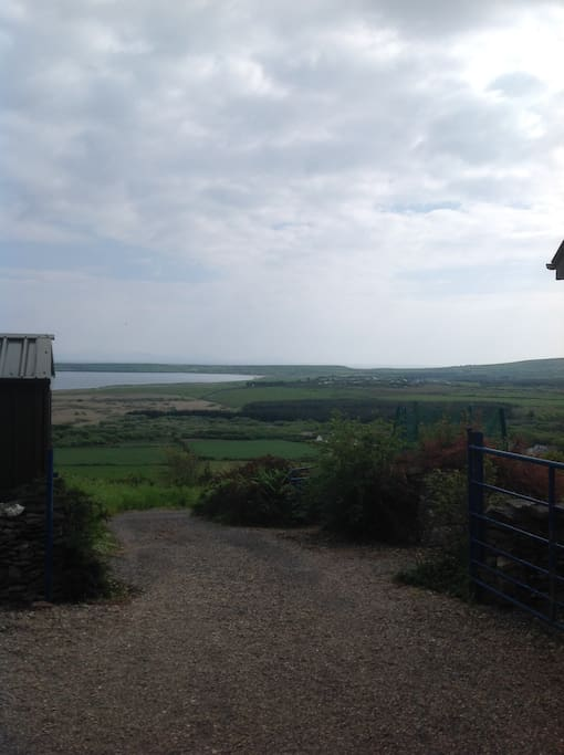 View from the top of the driveway