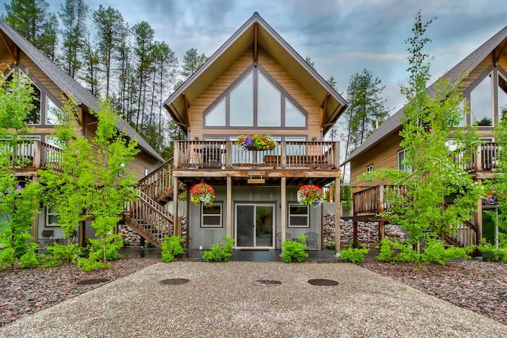 Enjoy lovely mountain views from this chic chalet near Glacier National Park!