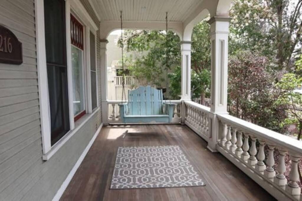 Relaxing porch swing