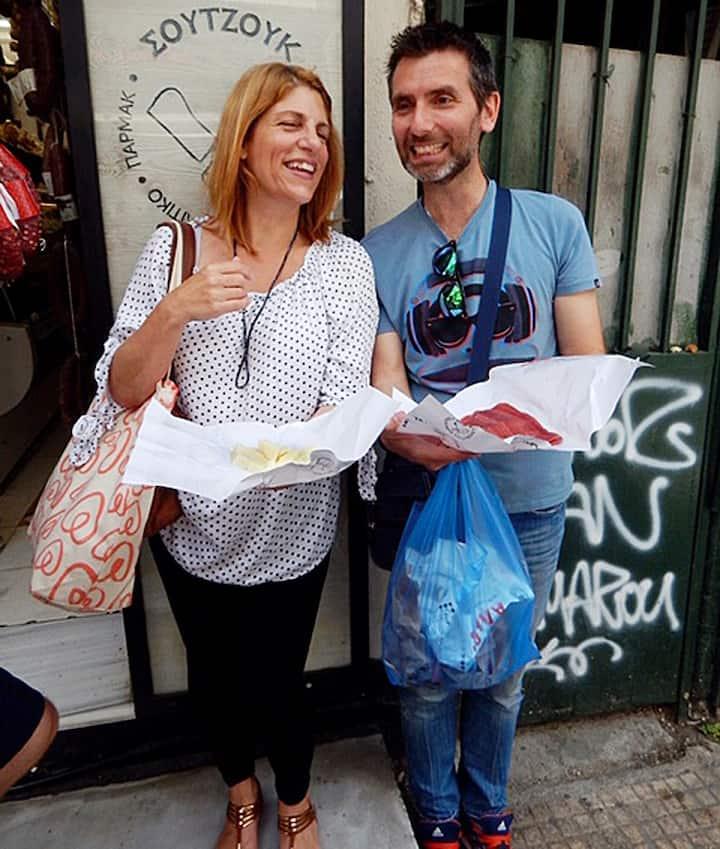 Tour guides - Rachel and Michalis