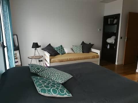 Kamer met eigen badkamer nabij Toulouse