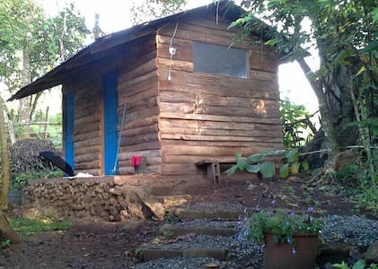 First room in two room cabin. - San Rafael Abajo