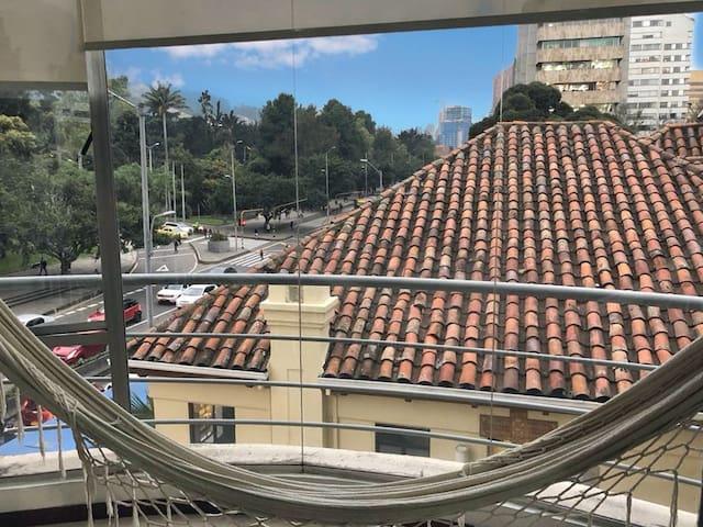 vista desde la sala del apartamento