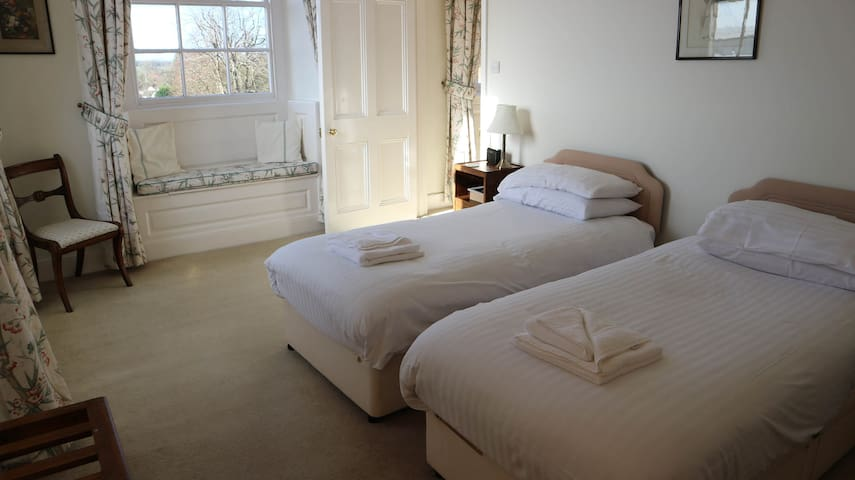 Twin Room, 2 single beds B&B, Crowcombe Court