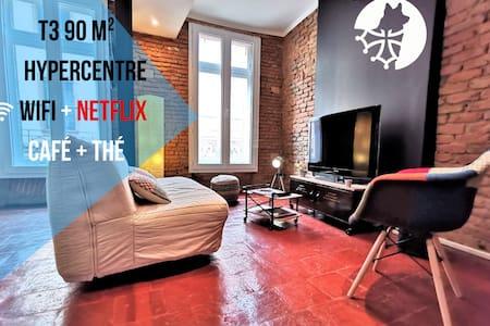 ✩ le BON'APPART ✩ Hypercentre ✩ T3 90 m² ✩ 50 m de la cathédrale✩