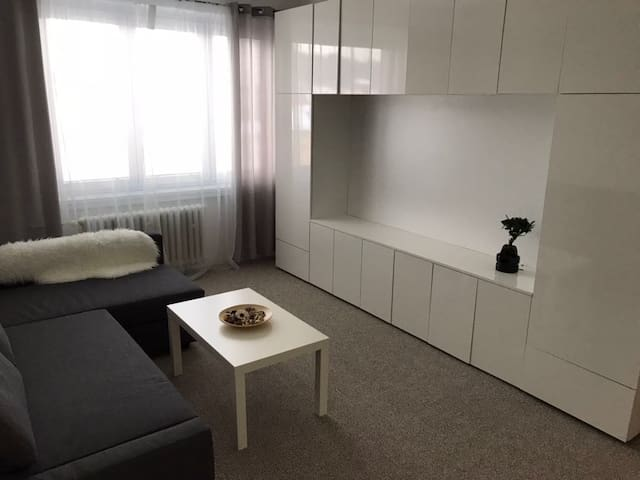 Small room apartment with balcony