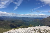On top of the munro Stob Ban