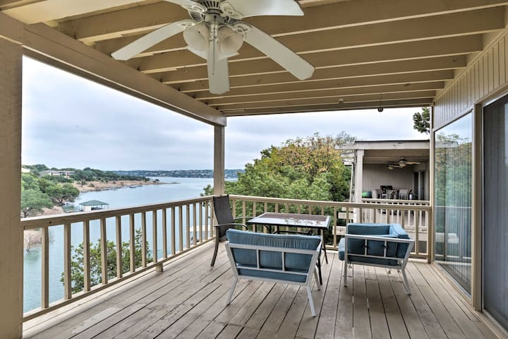 Take in the lake views from one of the decks at this vacation rental townhome!
