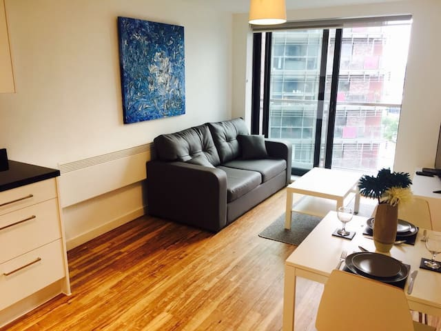 Brand new Leeds flat with gym and secure parking!
