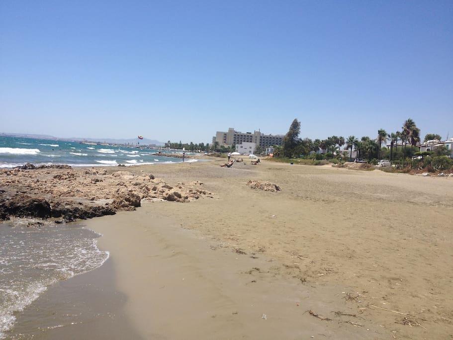 Walk to the beach nearby