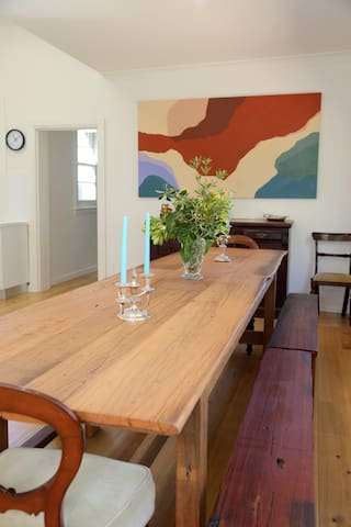 Dining for up to 16 people comfortably