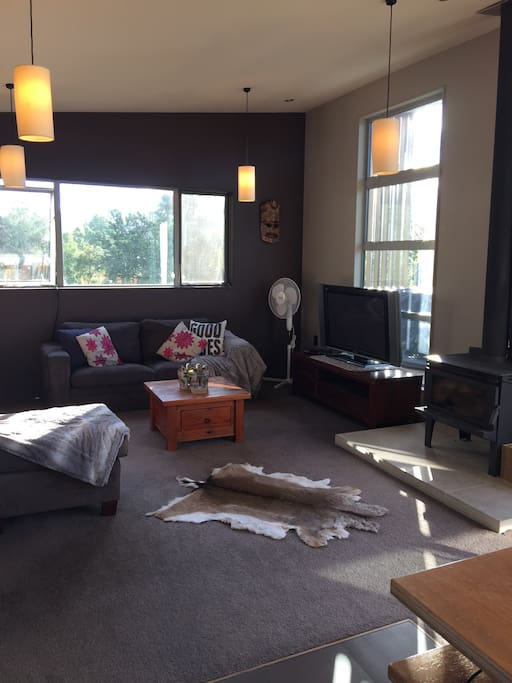 Cozy lounge, large flat screen TV with Dish TV