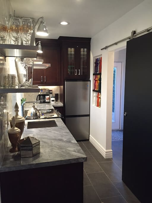 Plenty of storage and counter space in this kitchen