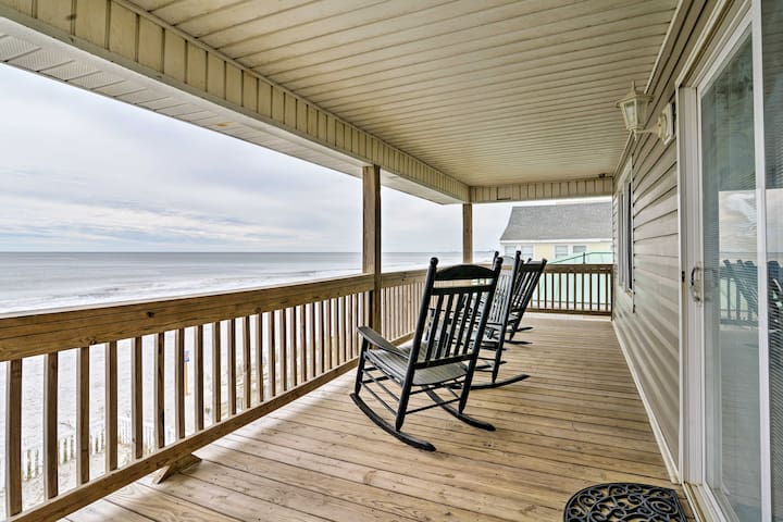North Myrtle Beach Duplex - Deck w/Ocean View