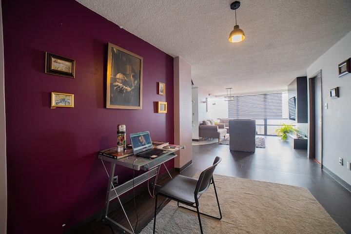 "Nice room inside a penthouse Polanco/Embajadas ""E"""