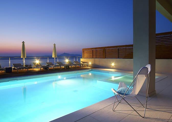 Mediterranean sea view Adeste villa, panoramic ... - Kokkino Chorio