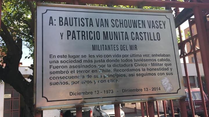 Placa Memorial Bautista van Schowen