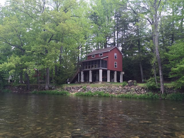 Red cabin on  Loyalsock creek - Williamsport