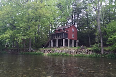 Red cabin on  Loyalsock creek - Williamsport - Cottage