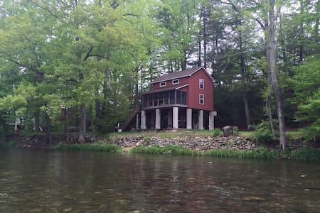 Red cabin on  Loyalsock creek - Williamsport