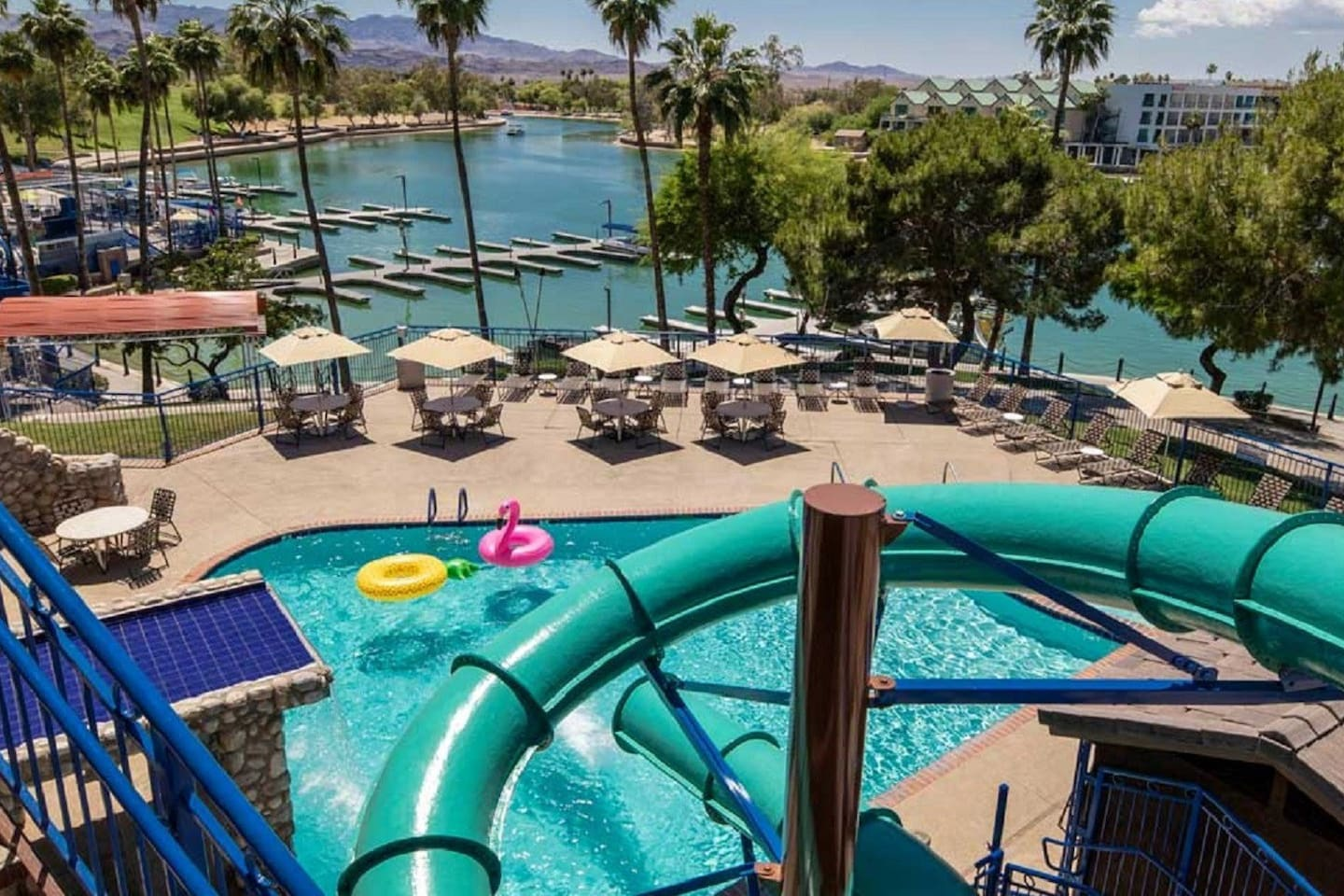View from Water Slide into Splash Pool