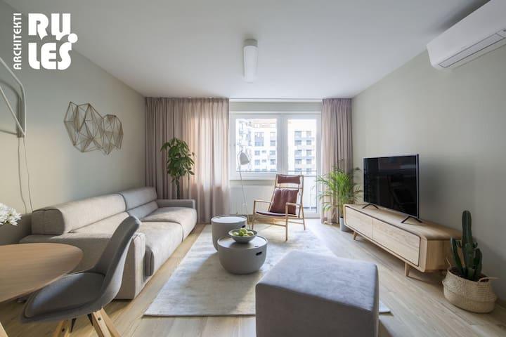 Living room (c) RULES Architekti (www.rules.sk), Tomáš Manina - autor interiéru a fotografií