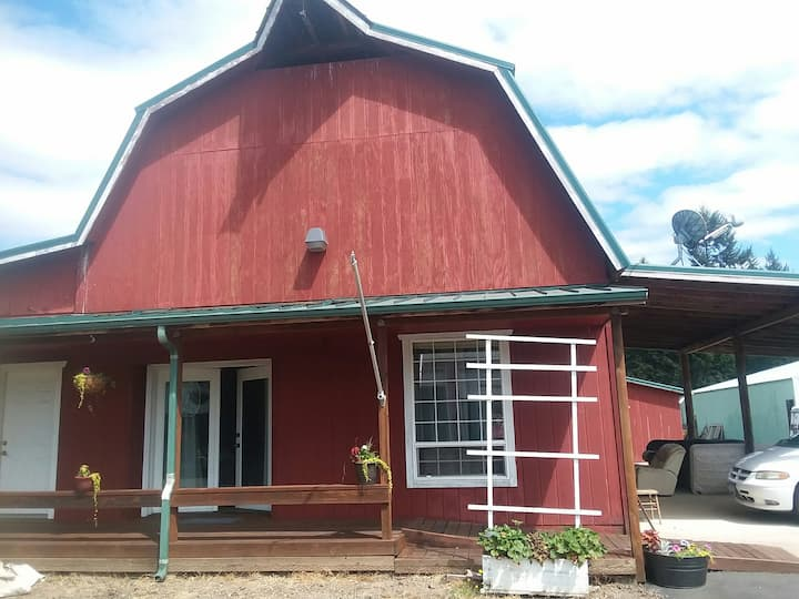 The art barn/funny farm! A quiet slice of heaven!
